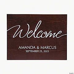 Personalized Welcome to the Wedding Sign