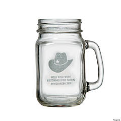 Personalized Western Mason Jar