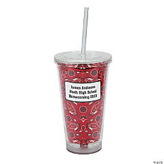 Personalized Western Tumbler with Lid & Straw
