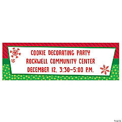 Personalized Whimsical Christmas Vinyl Banners