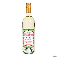 Personalized Whimsical Christmas Wine Bottle Labels