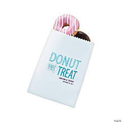 Personalized White Donut Treat Bags