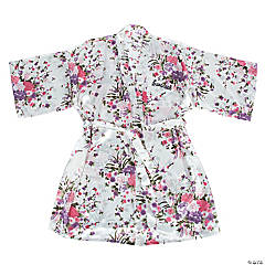 Personalized White Floral Robe