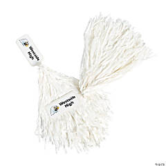 Personalized White Pom-Poms