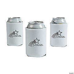 Personalized White Shooting Star Can Coolers