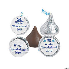 Personalized Winter Hershey's® Kisses® Stickers