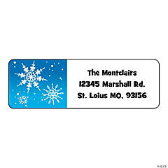 Personalized Winter Return Address Labels
