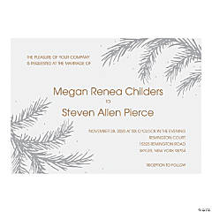 Personalized Winter Wedding Invitations