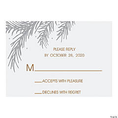 Personalized Winter Wedding Response Cards