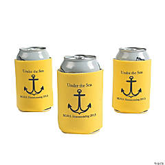 Personalized Yellow Anchor Can Covers