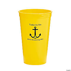 Personalized Yellow Anchor Tumblers