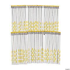 Personalized Yellow Awareness Ribbon Pencils