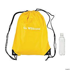 Personalized Yellow Drawstring Backpacks