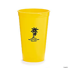 Personalized Yellow Luau Tumblers