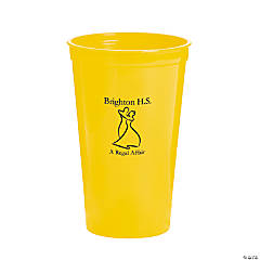 Personalized Yellow Prom Couple Tumblers