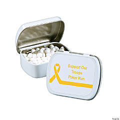 Personalized Yellow Ribbon Mint Tins