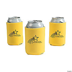 Personalized Yellow Shooting Star Can Coolers