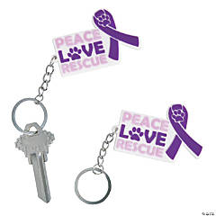 Pet Rescue Awareness Keychains