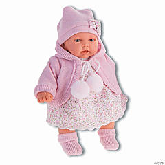 Petit Baby Girl Doll With Light Pink Dress