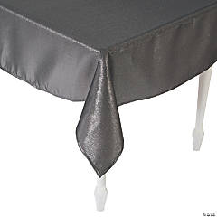 Pewter Metallic Polyester Tablecloth - 60