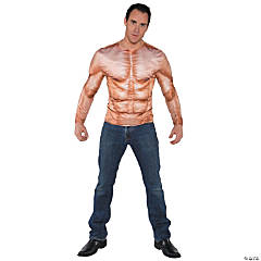 Photo Real Shirt Muscle Padded Costume for Men