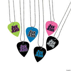 """Pick Jesus"" Guitar Pick Necklaces"