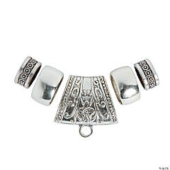 5-Piece Silvertone Scarf Ring Set