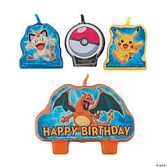 Pikachu & Friends Birthday Candles
