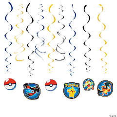 Pikachu & Friends Hanging Swirl Decorations Value Pack
