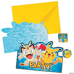 Pikachu & Friends Postcard Invites