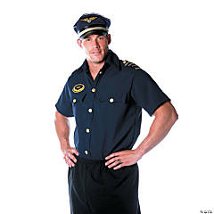 Pilot Shirt Costume for Men