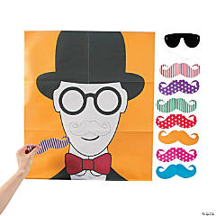 Pin the Flashy Stache Mustache Party Game