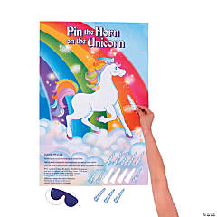 Pin the Horn on the Unicorn Party Game