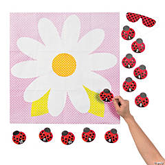 Pin the Ladybug on the Flower Party Game