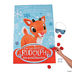 Pin the Nose on Rudolph the Red-Nosed Reindeer® Party Game