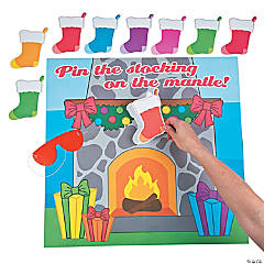 Pin the Stocking on the Mantel Game