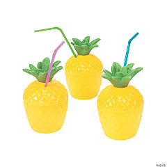 Pineapple Cups with Lids