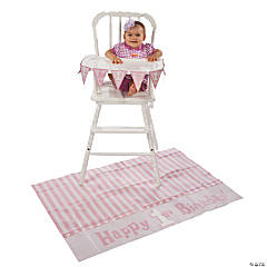 Pink 1st Birthday High Chair Decorating Kit