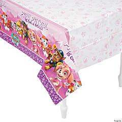 Pink & Purple Paw Patrol™ Plastic Tablecloth