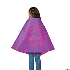 Pink & Purple Superhero Reversible Cape
