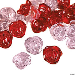 Pink & Red Rose Beads - 12mm
