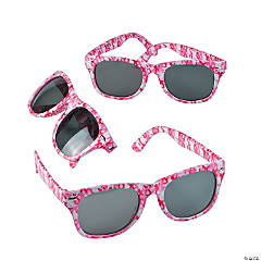 Pink Awareness Ribbon Camouflage Sunglasses