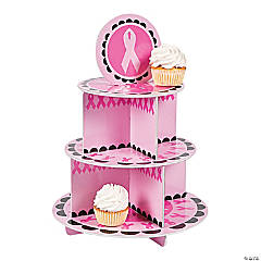Pink Awareness Ribbon Cupcake Stand
