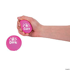 Pink Awareness Ribbon Kick for the Cure Stress Balls