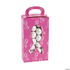 Pink Awareness Ribbon Treat Boxes with Cutout