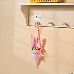 Pink Bunny Cone Favor Idea
