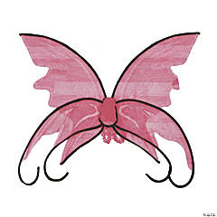 Pink Butterfly Wings with Curls