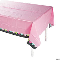 Pink Chalkboard Tablecloth