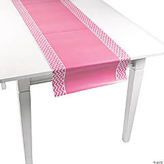 Pink Chevron Table Runner