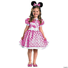Pink Classic Minnie Mouse Costume for Toddler Girls